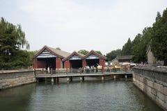 Asian Chinese, Beijing, the Summer Palace, dock Stock Photos