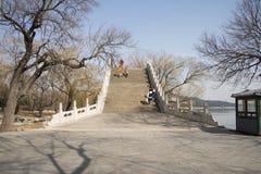 Asian Chinese, Beijing, the Summer Palace,Jade Belt Bridge Stock Photography