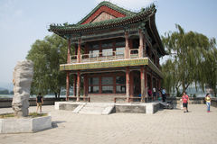 Asian Chinese, Beijing, the Summer Palace,JING  Ming building Stock Photo