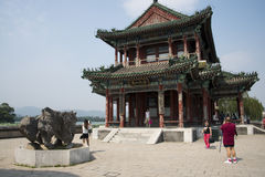 Asian Chinese, Beijing, the Summer Palace,JING  Ming building Royalty Free Stock Images