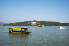 Asian Chinese, Beijing, the Summer Palace, Kunming lake, incense, cruise Stock Images