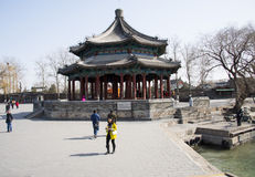 Asian Chinese, Beijing, the Summer Palace, lang ru ting Stock Image