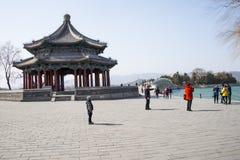 Asian Chinese, Beijing, the Summer Palace, lang ru ting Royalty Free Stock Image