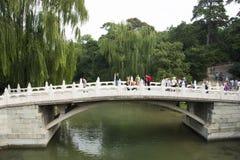 Asian Chinese, Beijing, the Summer Palace, the stone bridge Royalty Free Stock Photo