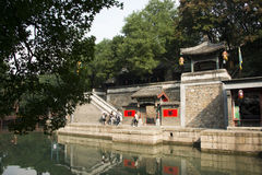 Asian Chinese, Beijing, the Summer Palace, Suzhou Street, antique buildings Royalty Free Stock Photography