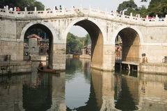 Asian Chinese, Beijing, the Summer Palace, the thr Royalty Free Stock Photos