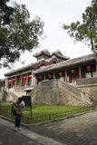 Asian Chinese, Beijing, the Summer Palace, TING LI GUAN Stock Photography
