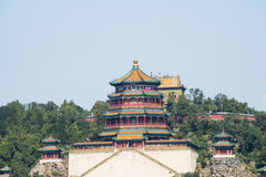 Asian Chinese, Beijing, the Summer Palace,  Tower of Buddhist Incense Royalty Free Stock Image