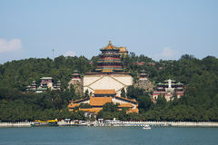 Asian Chinese, Beijing, the Summer Palace,  Tower of Buddhist Incense Royalty Free Stock Photos