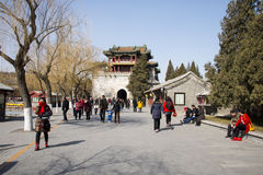 Asian Chinese, Beijing, the Summer Palace, Wenchang Pavilion Stock Photography