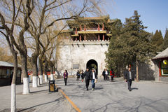 Asian Chinese, Beijing, the Summer Palace, Wenchang Pavilion Royalty Free Stock Photography