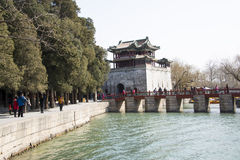 Asian Chinese, Beijing, the Summer Palace, Wenchang Pavilion Stock Image