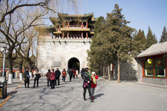 Asian Chinese, Beijing, the Summer Palace, Wenchang Pavilion Royalty Free Stock Images