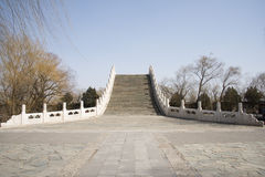 Asian Chinese, Beijing, the Summer Palace, Xiu Yi Bridge Royalty Free Stock Photo