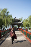 Asian Chinese, Beijing, the Summer Palace,zhi chun ting Stock Photos