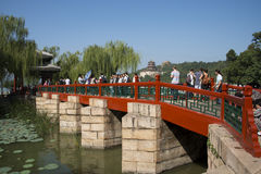 Asian Chinese, Beijing, the Summer Palace,zhi chun ting Royalty Free Stock Photo