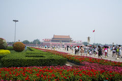 Asian Chinese, Beijing, Tiananmen square Royalty Free Stock Photo