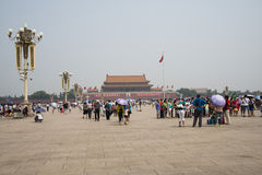 Asian Chinese, Beijing, Tiananmen square Stock Images