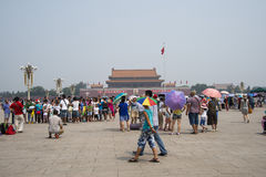 Asian Chinese, Beijing, Tiananmen square Stock Photography
