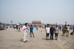 Asian Chinese, Beijing, Tiananmen square Stock Photos