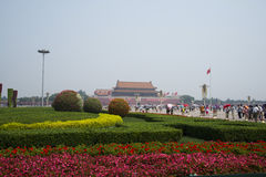 Asian Chinese, Beijing, Tiananmen square Royalty Free Stock Photos