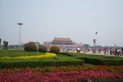 Asian Chinese, Beijing, Tiananmen square Royalty Free Stock Photos