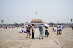 Asian Chinese, Beijing, Tiananmen square Stock Image
