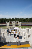 Asian Chinese, Beijing, Tiantan Park, the Circular Mound Altar, historical buildings Stock Photography