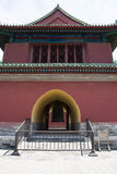 Asian Chinese, Beijing, Tiantan Park, historic building, the clock tower Royalty Free Stock Photography