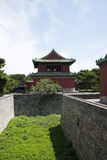 Asian Chinese, Beijing, Tiantan Park, historic building, the clock tower Royalty Free Stock Images