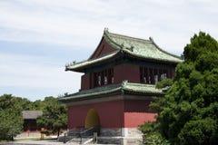 Asian Chinese, Beijing, Tiantan Park, historic building, the clock tower Stock Photos