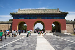 Asian Chinese, Beijing, Tiantan Park, historic buildings Royalty Free Stock Photography