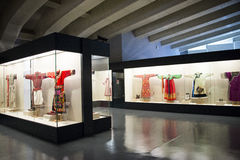 Asian Chinese, Beijing, women and children's Museum,  Indoor exhibition hall,China women's national costume. China women and children's Museum, is our country Royalty Free Stock Image
