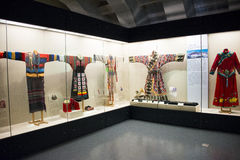 Asian Chinese, Beijing, women and children's Museum,  Indoor exhibition hall,China women's national costume Stock Photos