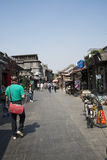 Asian Chinese, Beijing, Yandaixiejie, a commercial street in the old Royalty Free Stock Photos