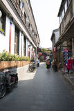 Asian Chinese, Beijing, Yandaixiejie, a commercial street in the old Stock Photos