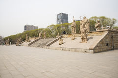 Asian Chinese, Beijing, YuanDadu City Wall Relics Park, sculpture Stock Photo