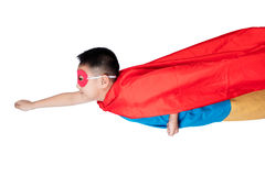 Asian Chinese boy wearing super hero costume Royalty Free Stock Images