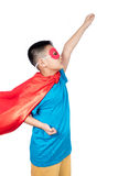 Asian Chinese boy wearing super hero costume Stock Photography