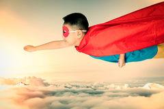 Asian Chinese boy wearing super hero costume Royalty Free Stock Image