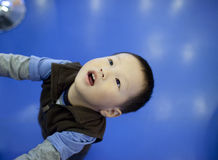 Asian chinese boywith curiousness Royalty Free Stock Photos
