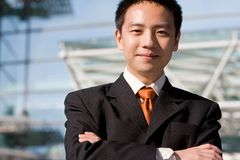 Asian chinese business man Royalty Free Stock Images