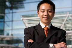 Asian chinese business man Royalty Free Stock Image