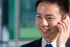 Asian chinese business man Stock Images