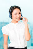 Asian chinese call center agent Royalty Free Stock Photos