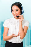 Asian chinese call center agent Stock Photos