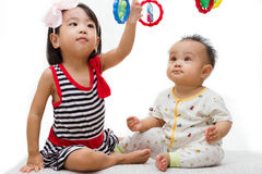 Asian Chinese Childrens Playing Royalty Free Stock Images