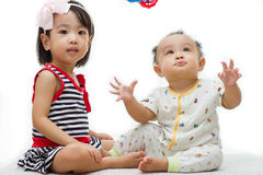 Asian Chinese Childrens Playing Royalty Free Stock Image
