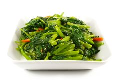 Asian Chinese Cooking Style Stir Fry Vegetable Dis royalty free stock photography