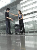Asian Chinese couple quarreling during travel Stock Photo